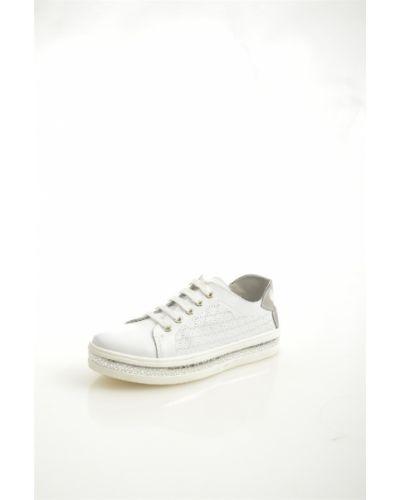 Кеды белые на шнуровке O`shade
