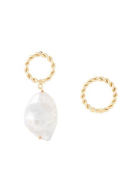 Złote kolczyki ze złota Joanna Laura Constantine