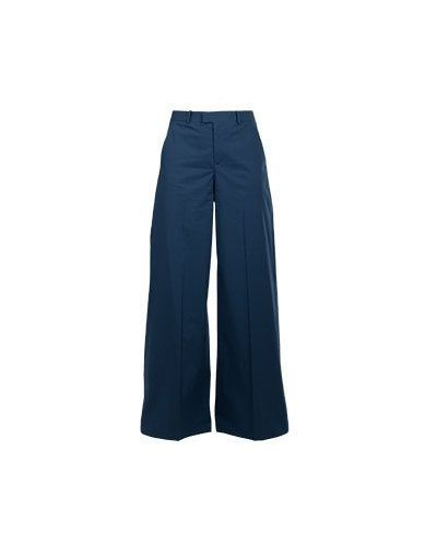 Синие хлопковые брюки Valentino Red