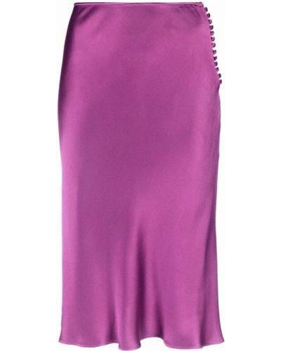 Fioletowa spódnica z wiskozy Christian Dior
