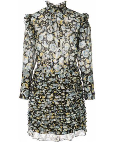 Облегающее платье мини с вырезом на пуговицах Robert Rodriguez Studio