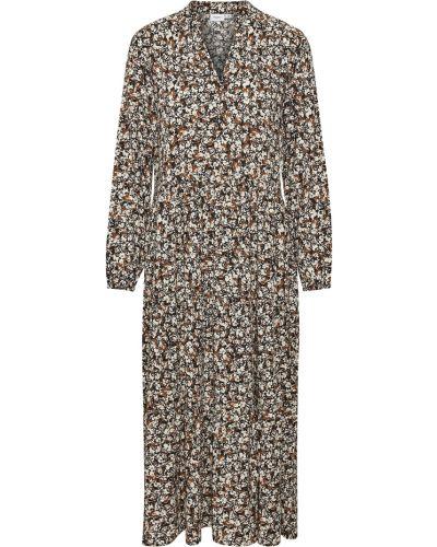 Sukienka długa - beżowa Saint Tropez