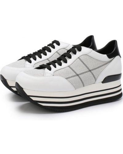 5fd8ec23f35a Женские черно-белые кроссовки на платформе - купить в интернет ...