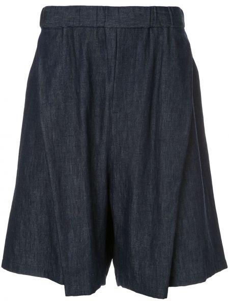 Черные шорты с карманами свободного кроя Yoshiokubo