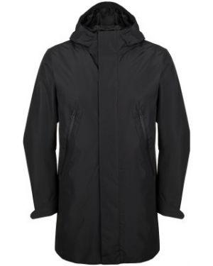 Спортивная прямая черная куртка с капюшоном мембранная Termit