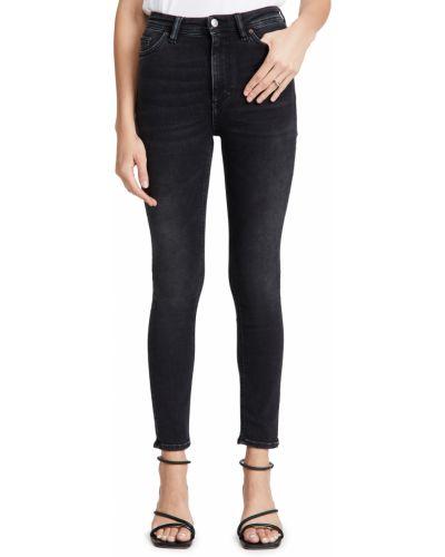 Mom jeans bawełniane - czarne Acne Studios