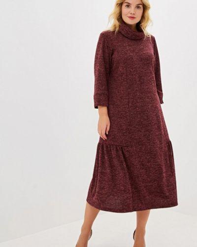 Повседневное платье бордовый красный Артесса