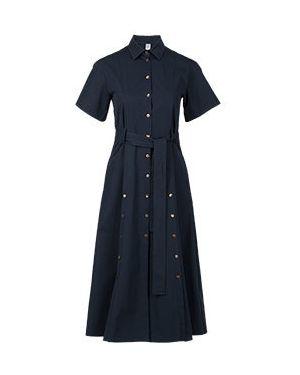 Хлопковое платье - синее Eleventy