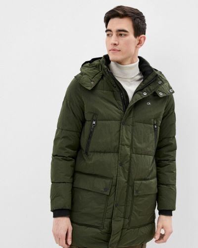 Зеленая утепленная куртка Calvin Klein
