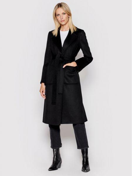 Czarny płaszcz wełniany Max&co.