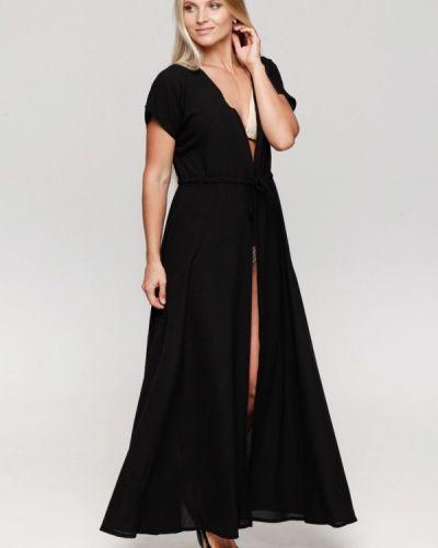 Пляжное платье осеннее черное Karree