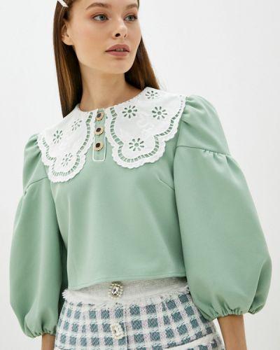 Зеленая блузка с короткими рукавами Sister Jane