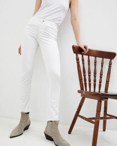 Белые джинсы-скинни узкого кроя Trussardi