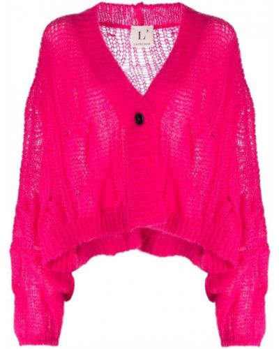 Шерстяной кардиган - розовый Lautre Chose