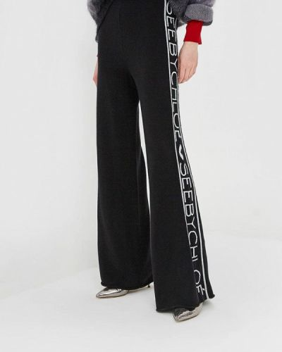 Черные брюки повседневные See By Chloe