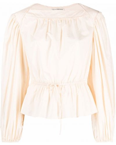 Beżowa bluzka bawełniana Ulla Johnson