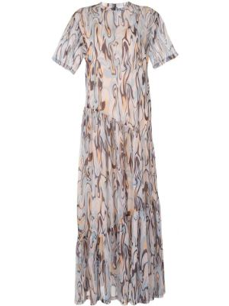 Платье миди с короткими рукавами - синее G.v.g.v.