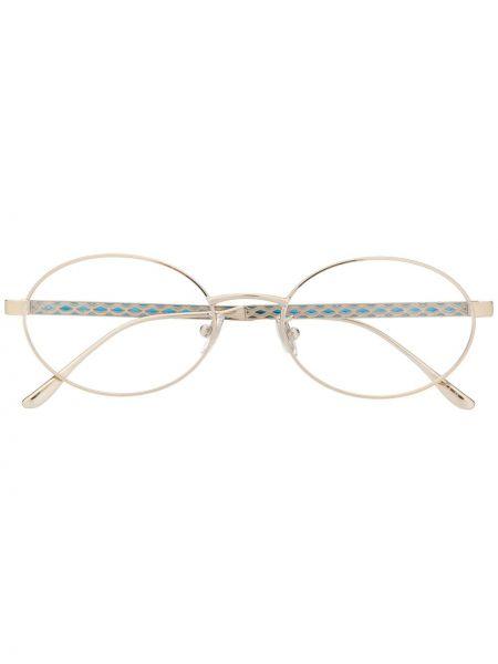 С ромбами прямые серебряные очки для зрения с бриллиантом Jimmy Choo Eyewear