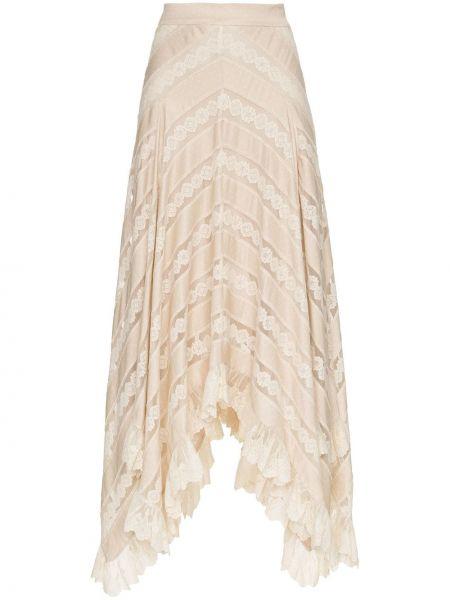 Spódnica rozkloszowana z wysokim stanem koronkowa Zimmermann