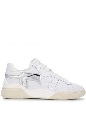 Białe sneakersy skorzane sznurowane Tod's