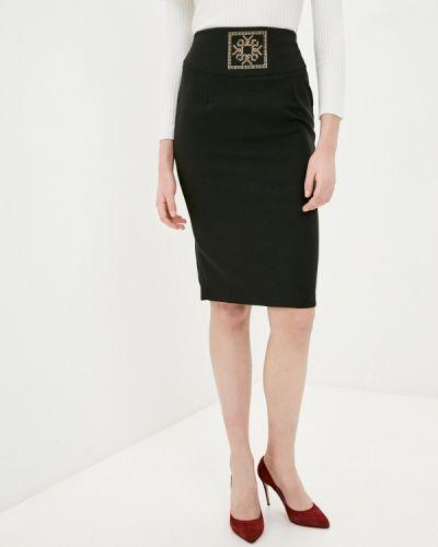 Черная юбка узкого кроя Rinascimento