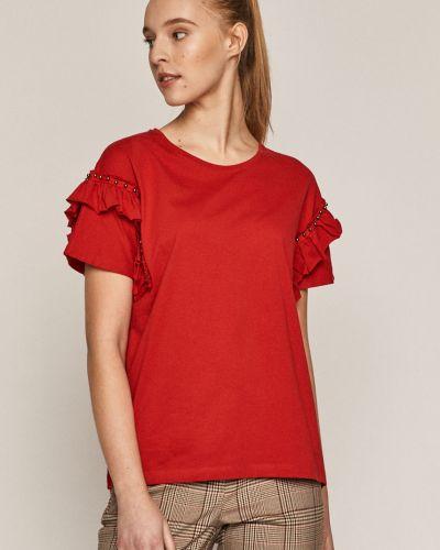 Czerwony t-shirt bawełniany oversize Medicine