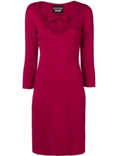 Платье розовое шерстяное Boutique Moschino