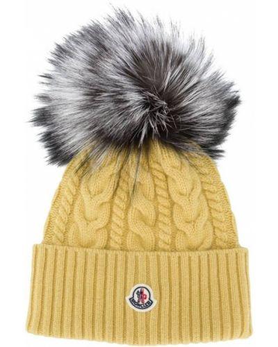 Żółty kapelusz Moncler