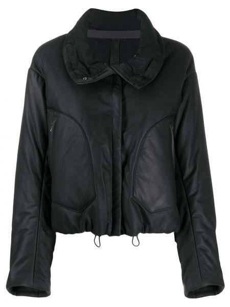 Черная кожаная короткая куртка на молнии Isaac Sellam Experience