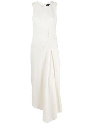 Белое асимметричное платье миди круглое с круглым вырезом Theory
