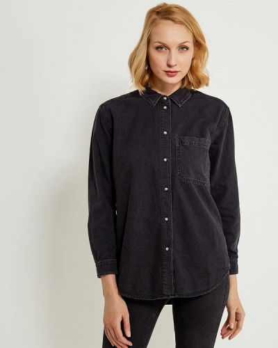 Серая джинсовая рубашка Topshop