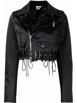 Черная куртка байкерская с воротником Comme Des Garçons Noir Kei Ninomiya