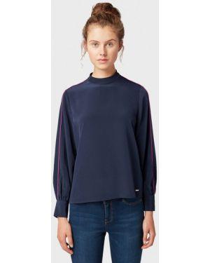Блузка с длинным рукавом синяя Tom Tailor Denim