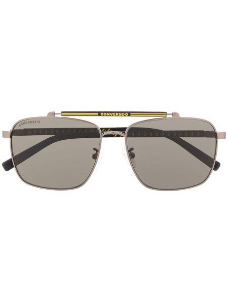 Муслиновые прямые черные солнцезащитные очки Converse