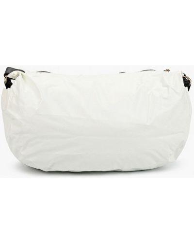 Текстильная белая сумка через плечо Violeta By Mango