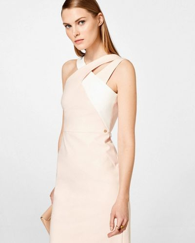 Коктейльное платье весеннее розовое Pedro Del Hierro