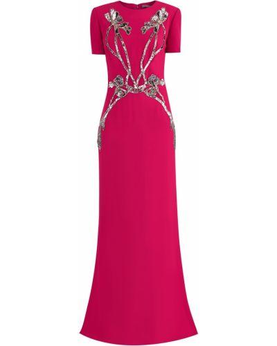 Вечернее платье розовое мини Alexander Mcqueen