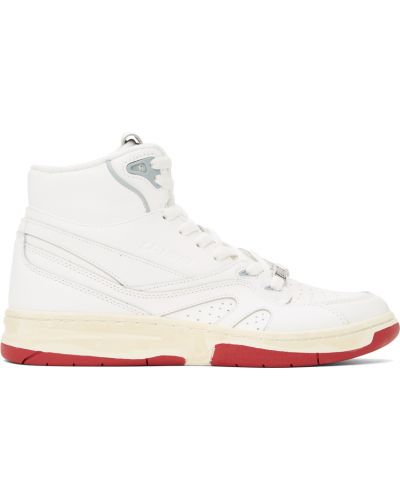 Кожаные высокие кроссовки - белые Li-ning