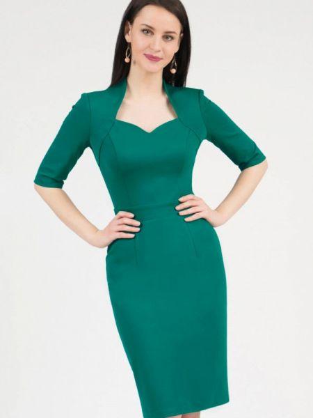 Платье футляр зеленый Grey Cat