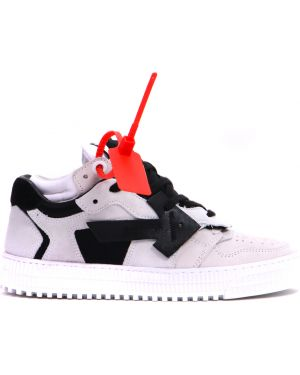 Кроссовки замшевые с перфорацией Off-white