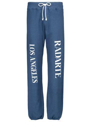 Niebieskie joggery bawełniane na co dzień Rodarte