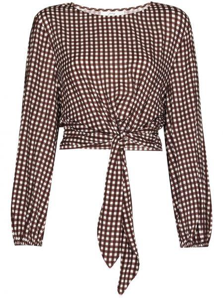 Хлопковая блузка - коричневая Peony