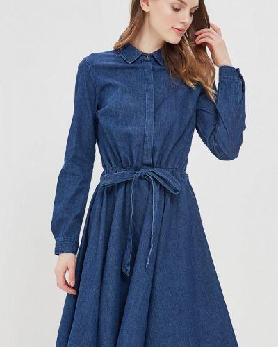 Джинсовое платье синее Cortefiel