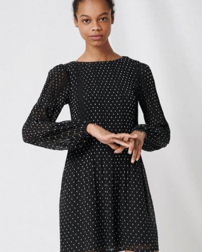 Черное прямое платье Maje