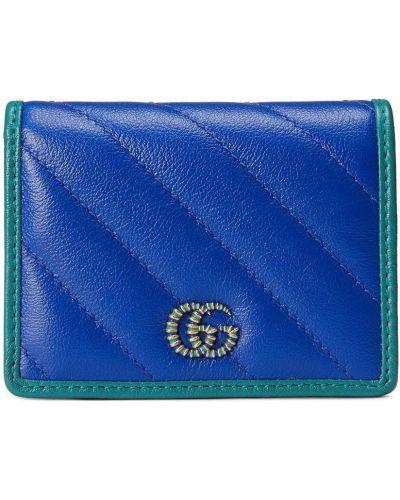 Portfel skórzany - niebieski Gucci