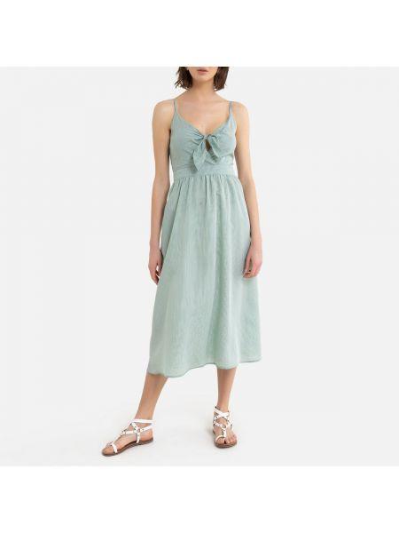 Платье миди с декольте макси La Redoute