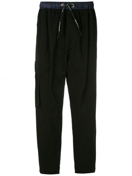 Свободные черные брюки карго свободного кроя с карманами à La Garçonne