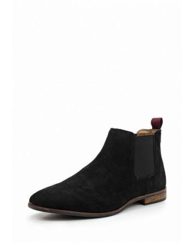 Черные ботинки замшевые Topman