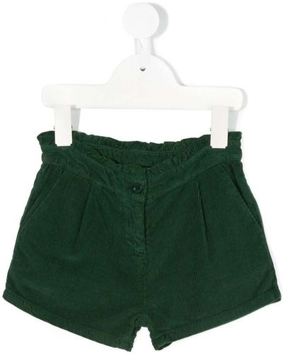 Зеленые шорты вельветовые на молнии Knot
