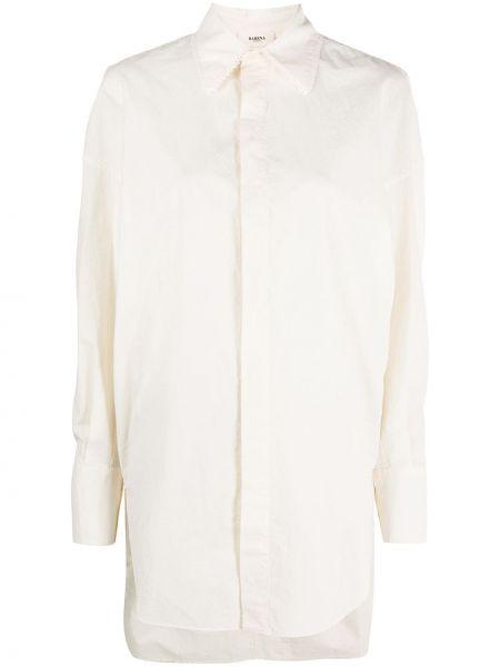 Ажурная асимметричная классическая рубашка с воротником на пуговицах Barena